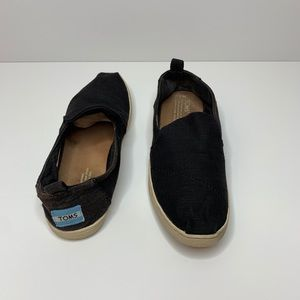 Black Canvas Toms Flats Women's Size 7